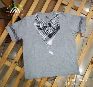 Tshirt Koko Muslim Corak Sorban for Kid ADL 007 Misty