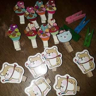 Assorted Wooden Clips 20 Pieces