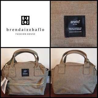 Anello Two Way Boston Bag Mini Beige
