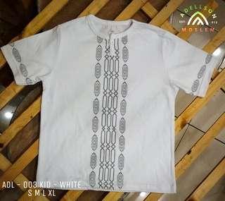 Tshirt Koko Muslim for Kid ADL 003 White