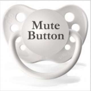 Ulubulu Pacifier | White MUTE BUTTON