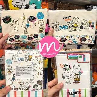 USJ Snoopy 日本連線 Pouch $190/1 Passport Case $175/1 筆袋 $175/1  直髮器捲髮器Case $195/1