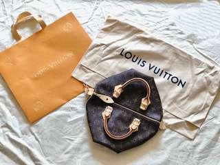 🚚 Louis Vuitton 經典鎖頭波斯頓包 speedy 30 #M41108