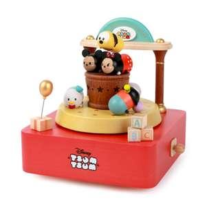 迪士尼 Disney / TSUM滋姆玩具木質旋轉音樂盒 / D284 / TSUMTSUM 滋姆滋姆 米奇米妮 唐老鴨