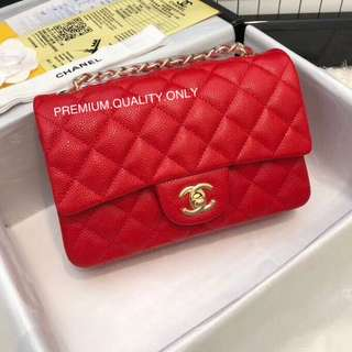 Boutique Quality Chanel Classic Flap 20 - Red