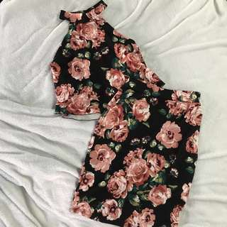Floral Terno (Top and Bottom)