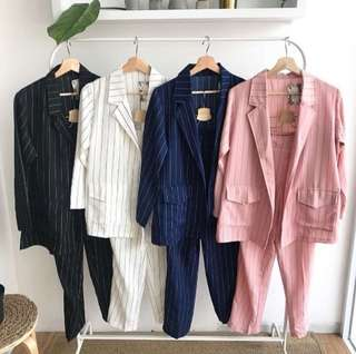 Zara strip set blazer