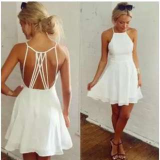 Bare Back White Dress