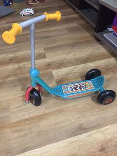 Kids car toy and kids scooter