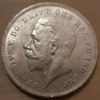 1935 Great Britain King George V Silver Crown Coin