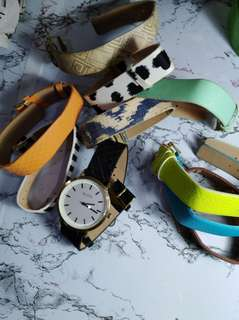 ALDO WATCH WITH 10 INTERCHANGEABLE STRAPS