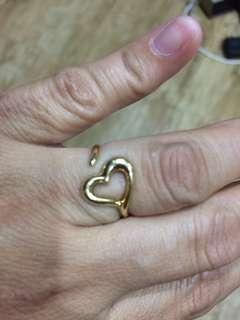 Cut ring heart design 1.8 grams