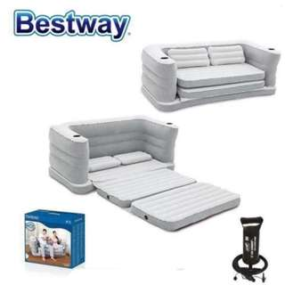 Bestway Multi-Max II Inflatable Air Couch GREY w/ HAND PUMP