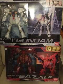 全新1:72 DX MIA 馬沙之反擊 RX-93 V-Gundam + DX MSN-04 沙煞比 Sazabi