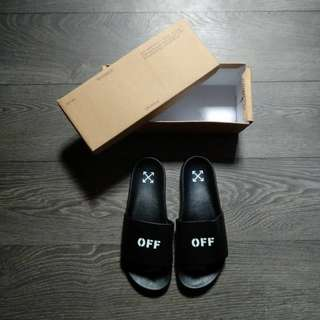 (Best Seller) Off-White Off Stamp Slider Sandal