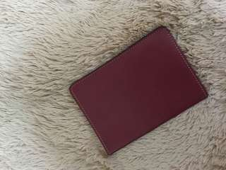 Dompet passport leather