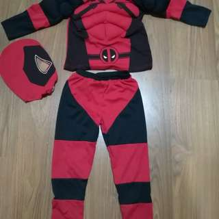 Deadpool costume for 4 to 6 yrs old