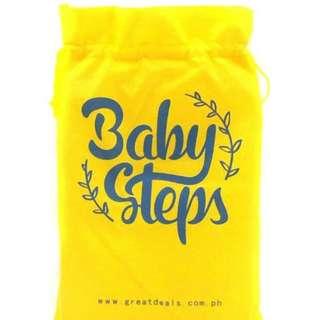 BABY STEPS Car12 Baby Feeding Washable Bib (Blue)