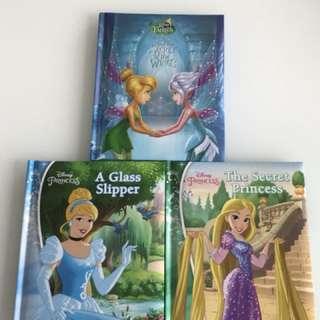 Three Disney Princess story book