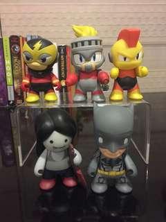 Kid robot mini series vinyl toys megaman, batman, adventure time marceline