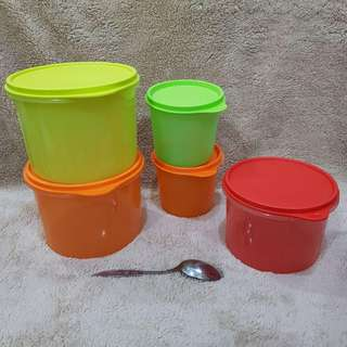 Topples canister by tupperware
