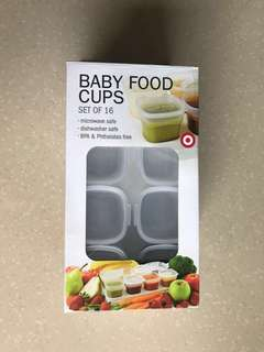 Baby Food Cups (16 pcs + 2 trays)
