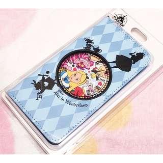 日本版 - Disneystore Alice in wonderland 迪士尼愛麗絲 有蓋電話套 手機殼