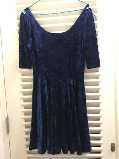 New look - blue suede dress