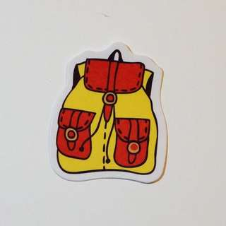 School Bag Laptop Sticker 書包電腦貼紙