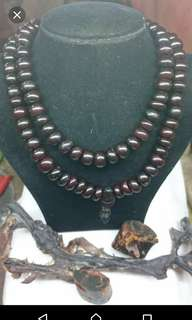 Red akar bahar wood necklace/tasbih