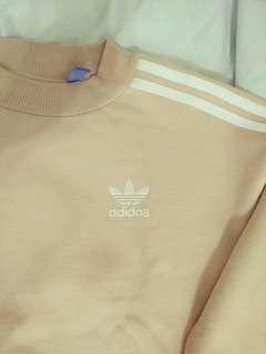 Adidas 粉嫩 奶茶色 洋裝