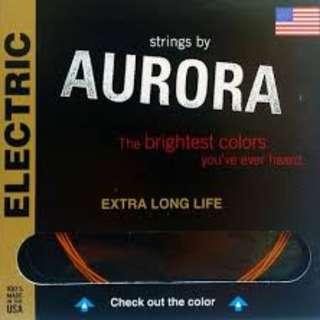 Aurora Guitar Strings (Coated/Colored) 10-46G ORANGE