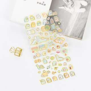 Sumikko Gurashi Gold Foil Blue Scrapbook / Planner Stickers #124
