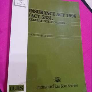 Insurance act 1996 (act 553)