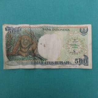 Uang 500 orang utan