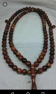 Kokka wood necklace/tasbih