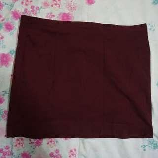 H&M Basic Maroon Skirt