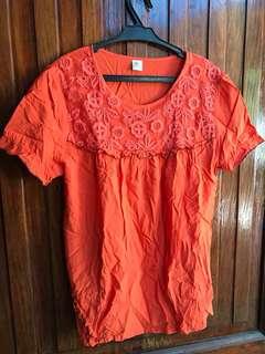 Orange TShirt Blouse