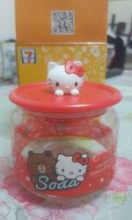 7-11玻璃樽  Hello Kitty