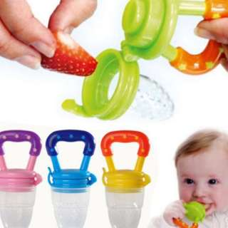 TMR🚩Baby Food Supplement Fruit Feeder Bite Pacifier