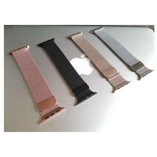 全新!!! Apple Watch 錶帶 (米蘭尼斯) 黑色 銀色 玫瑰金 香檳金 (4色!)  Milanese Loop Apple Watch Band Strap 42mm/38mm 非原裝!!!!