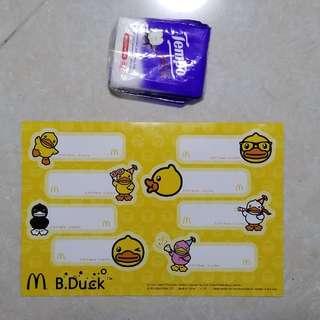 全新未用過麥記B Duck 貼紙 / New, unused McDonald's B Duck sticker