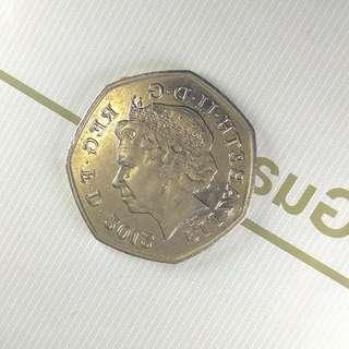 英國硬幣50便士