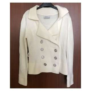 Cream Thick Knit Jacket