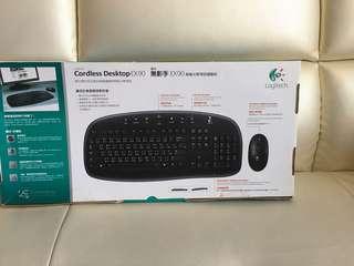 全新Logitech 無線滑鼠鍵盤