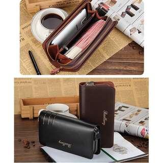 Dompet Handbag Baellery Double Zipper Pria