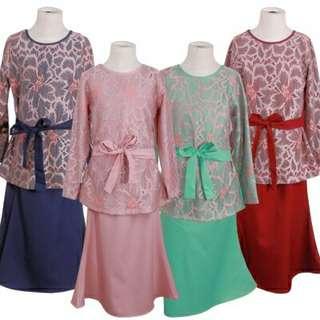 Zafira Lace Kids Baju Kurung