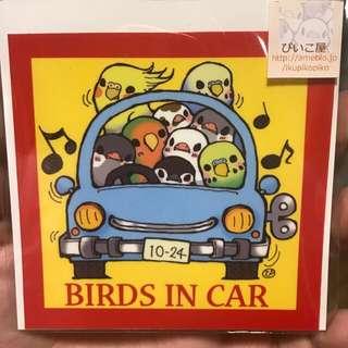 汽車貼紙。日本買回來的