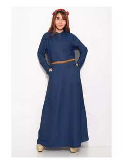 Long Sleeve Chambray Gamis Fashion