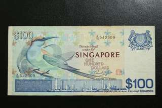 SG bird series $100 notes